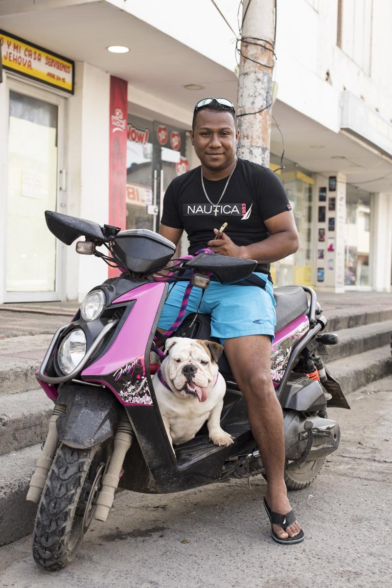 motorbiker San Andres, Colombia